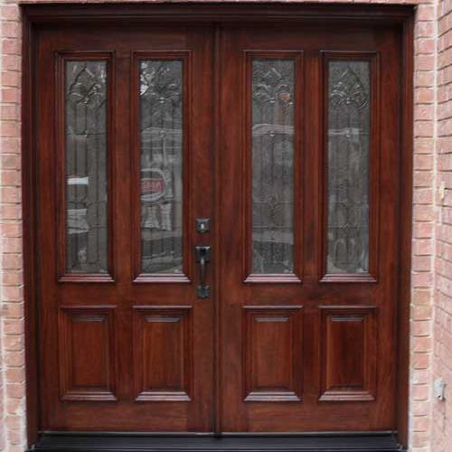 AAW Mahogany Wood Door after