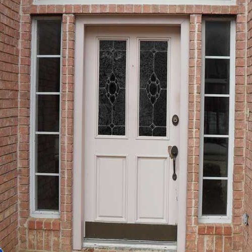 AAW Mahogany Wood Door before