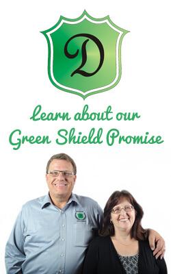 Designer Door & Window Green Shield Promise banner image