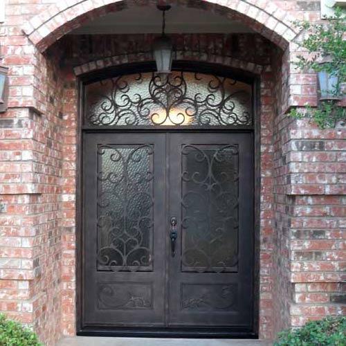 designer doors and windows example of wrought iron front door