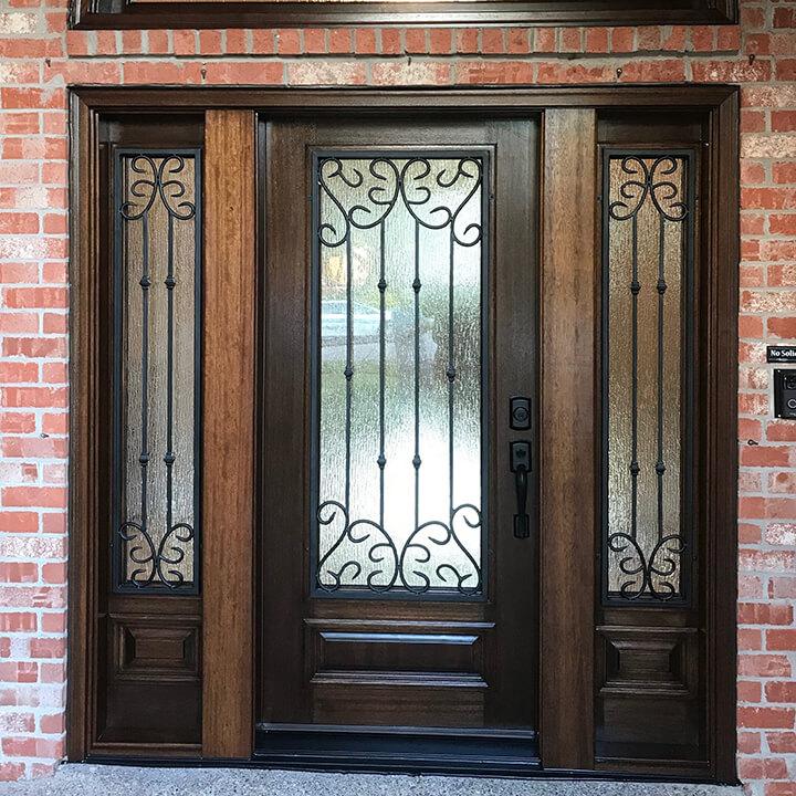 Glasscraft Valencia Mahogany Door after
