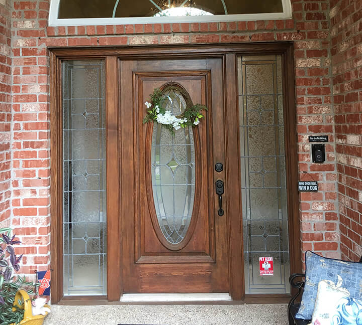 Glasscraft Valencia Mahogany Door before