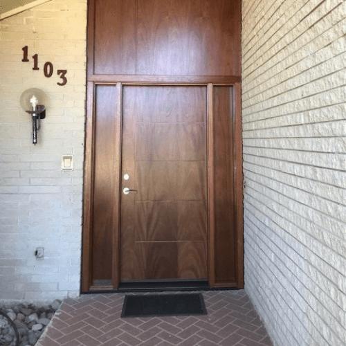 Gravely Custom Mahogany Contemporary Door after