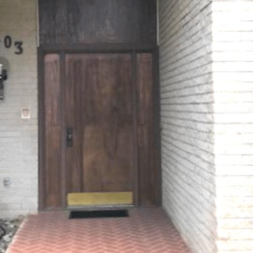 Gravely Custom Mahogany Contemporary Door before