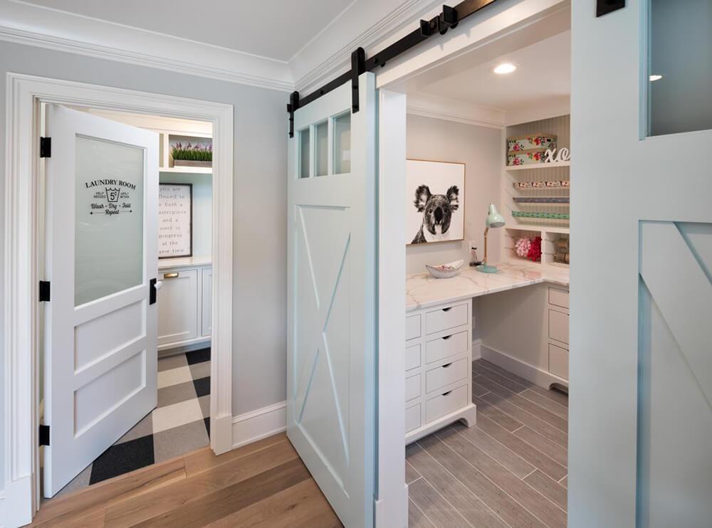 Picture of barn style interior door