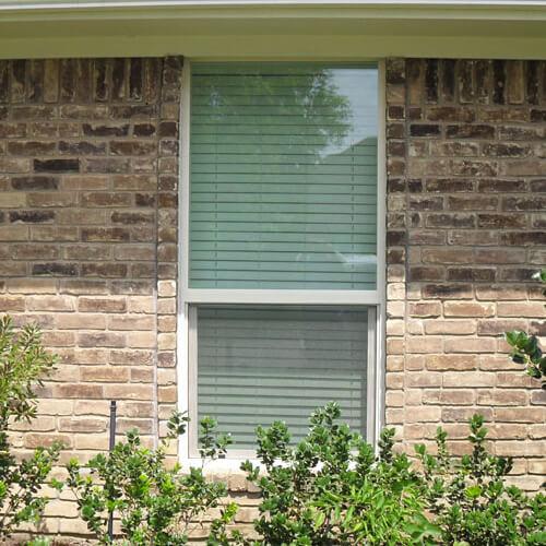 Premium Adobe Vinyl Single Hung Window Richardson after