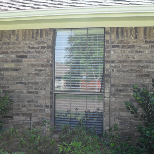 Premium Adobe Vinyl Single Hung Window Richardson before