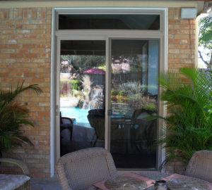 Premium Adobe Vinyl Sliding Patio Door With Transom Richardson after
