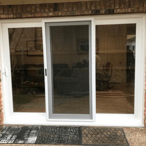 Premium White Vinyl 3-Panel Sliding Patio Door Carrollton after