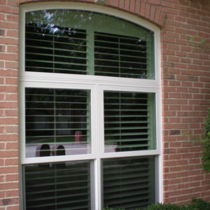 Premium White Vinyl Double Single Hung Window With Transom Plano after