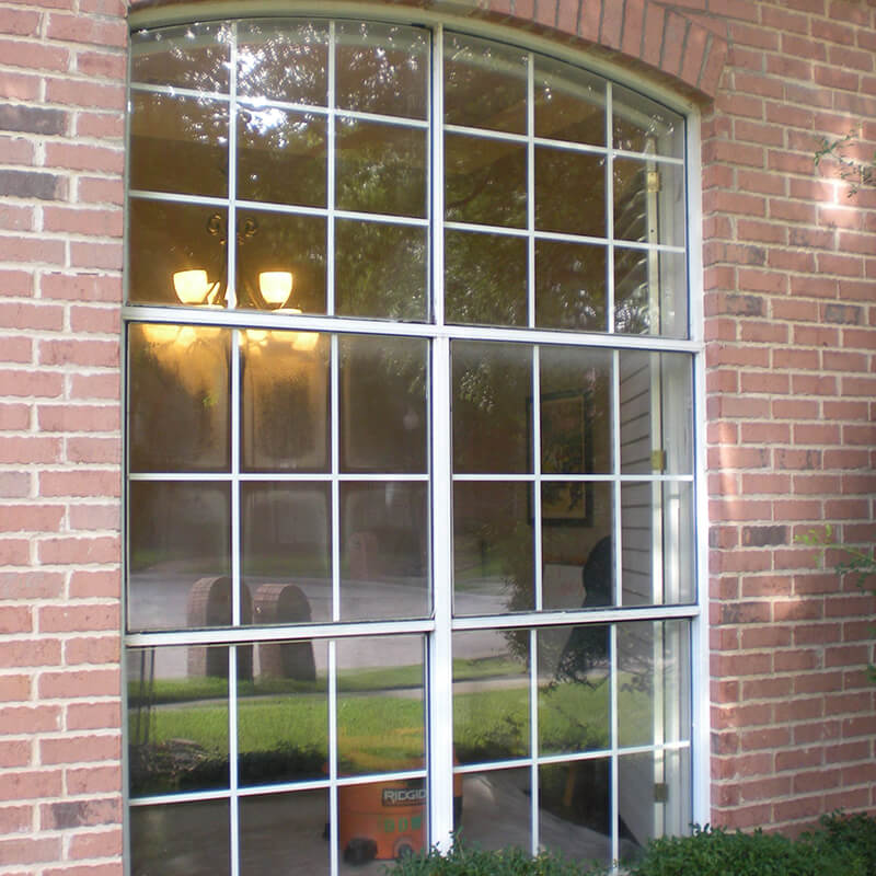 Premium White Vinyl Double Single Hung Window With Transom Plano before