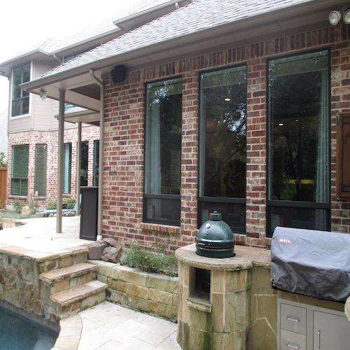 Premium White Vinyl Interior And Bronze Exterior Single Hung Windows Plano after