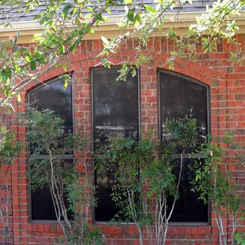 Premium White Vinyl Single Hung Half Round Window Allen before