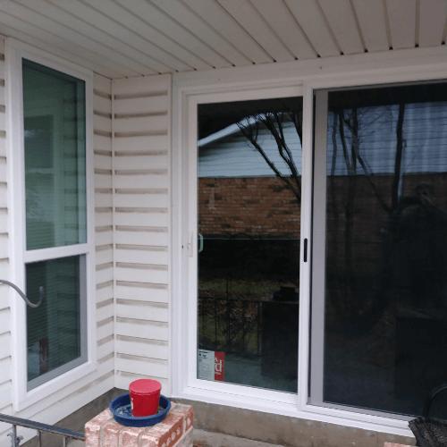 Premium White Vinyl Windows And Sliding Patio Door Plano after