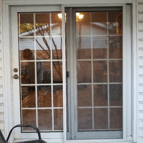 Premium White Vinyl Windows And Sliding Patio Door Plano before