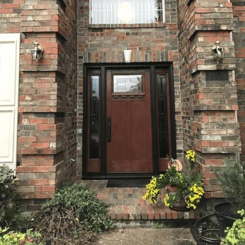 ProVia Craftsman Door with Sidelites after