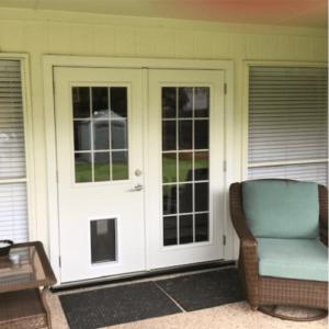 ProVia Double French Door with Pet Door after