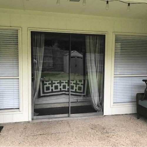ProVia Double French Door with Pet Door before