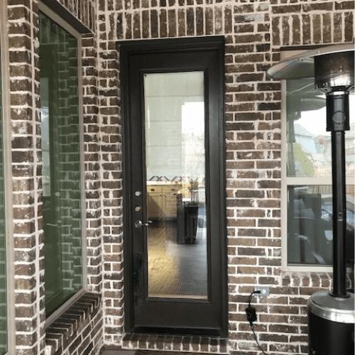 ProVia Legacy Steel with Pet Door before