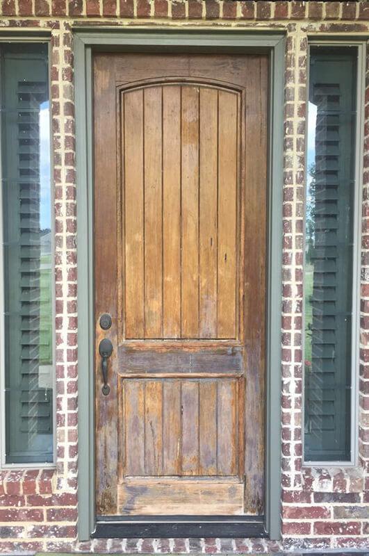 ProVia Signet Knotty Alder Door before