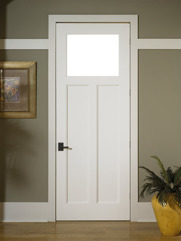 TruStile TS3300 Craftsman with White Lami Glass